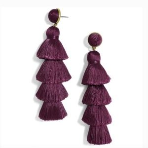 "Baublebar || ""Gabriela"" Stud Tassel Earrings"